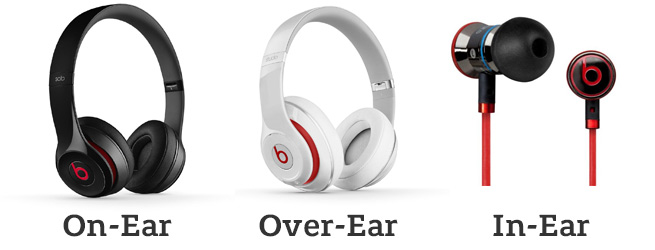 difference between on ear and over ear headphones